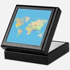 world map Keepsake Box