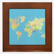 world map Framed Tile