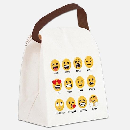 Emoji Horoscopes Canvas Lunch Bag