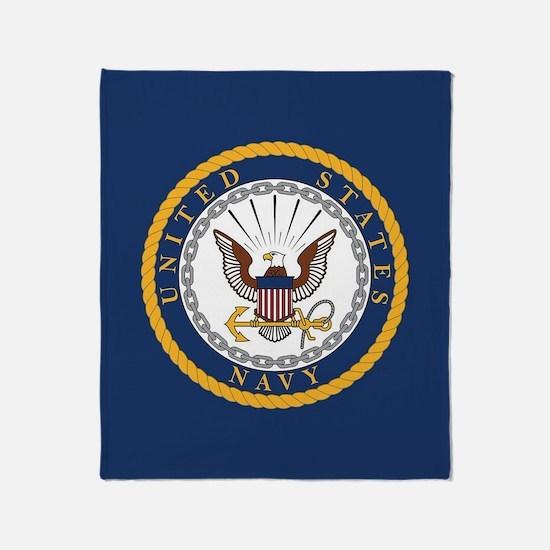 United States Navy Emblem Throw Blanket