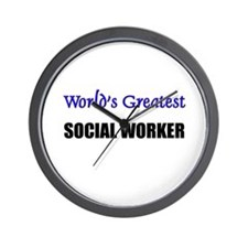 Worlds Greatest SOCIAL WORKER Wall Clock