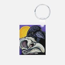 Raven Skull Goth Halloween Art Keychains