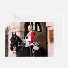 Royal Household Cavalry Guard (capti Greeting Card