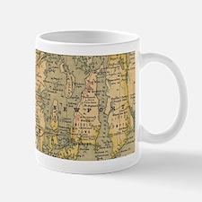 Vintage Map of Rhode Island (1875) Mugs