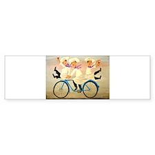Singing Chefs on a Bike Bumper Bumper Sticker