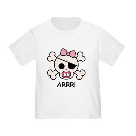 Baby Girl Pirate Toddler T-Shirt