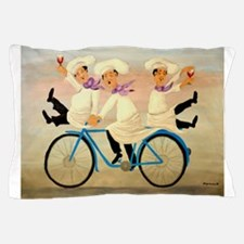 Singing Chefs on a Bike Pillow Case