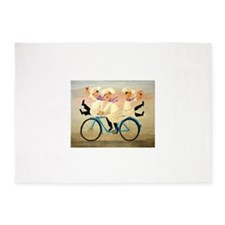 Singing Chefs on a Bike 5'x7'Area Rug
