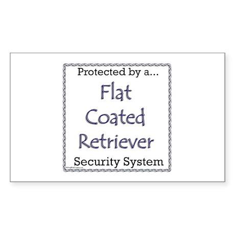 Flat-Coat Security Rectangle Sticker