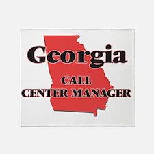 Georgia Call Center Manager Throw Blanket