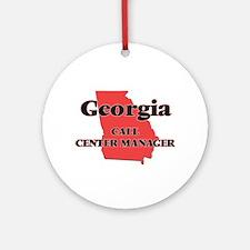 Georgia Call Center Manager Round Ornament