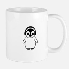 Penguin Enjoys Music Mugs