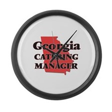 Georgia Catering Manager Large Wall Clock