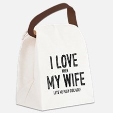 I Love My Wife - Disc Golf Canvas Lunch Bag