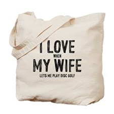 I Love My Wife - Disc Golf Tote Bag