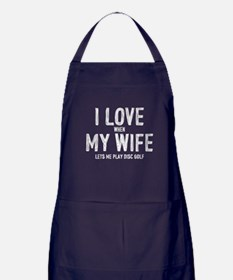I Love My Wife - Disc Golf Apron (dark)