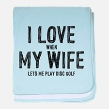 I Love My Wife - Disc Golf baby blanket