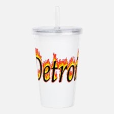 Detroit Flame Acrylic Double-wall Tumbler