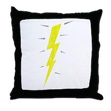 Lightning Bolt (Vintage) Throw Pillow