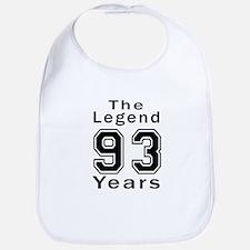 93 Legend Birthday Designs Bib