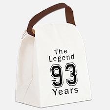 93 Legend Birthday Designs Canvas Lunch Bag