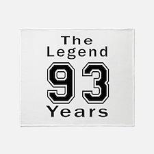 93 Legend Birthday Designs Throw Blanket