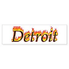 Detroit Flame Bumper Bumper Sticker
