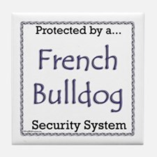 Frenchie Security Tile Coaster