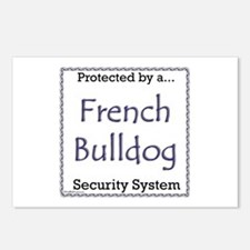 Frenchie Security Postcards (Package of 8)