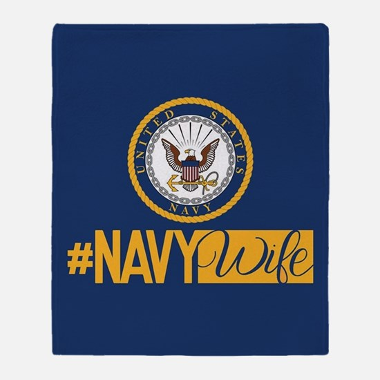 #NavyWife Throw Blanket