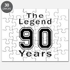 90 Legend Birthday Designs Puzzle