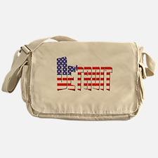 Patriotic Detroit Messenger Bag