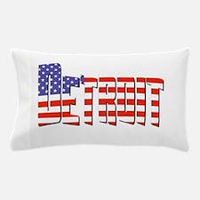 Patriotic Detroit Pillow Case