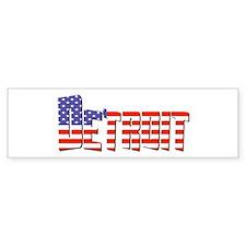 Patriotic Detroit Bumper Bumper Sticker