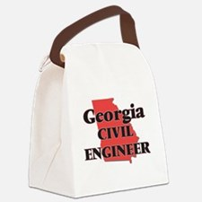 Georgia Civil Engineer Canvas Lunch Bag