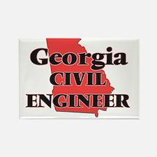 Georgia Civil Engineer Magnets