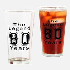 80 Legend Birthday Designs Drinking Glass