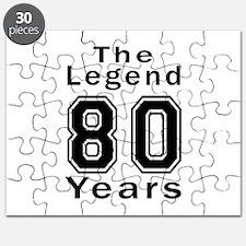 80 Legend Birthday Designs Puzzle
