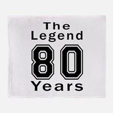 80 Legend Birthday Designs Throw Blanket