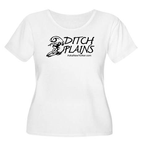 DITCH PLAINS Women's Plus Size Scoop Neck T-Shirt
