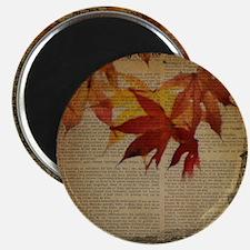 vintage paris fall leaves Magnets