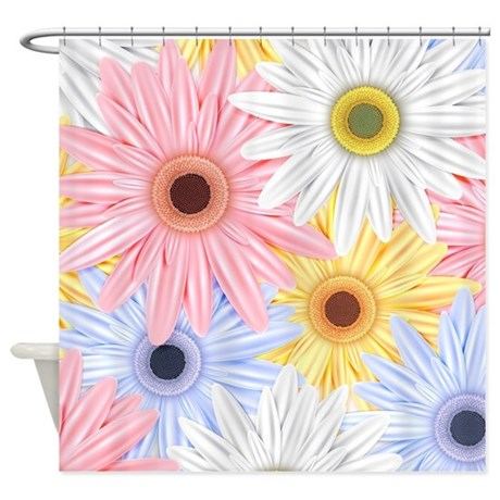 Cute Flowers Shower Curtain By FuzzyChair