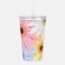 Cute Flowers Acrylic Double-wall Tumbler
