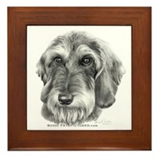 Wire-Haired Dachshund Framed Tile