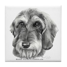 Wire-Haired Dachshund Tile Coaster