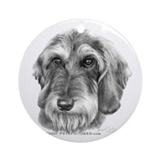 Wire-Haired Dachshund Ornament (Round)