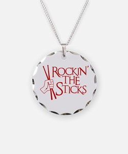 ROCKIN' THE STICKS Necklace Circle Charm
