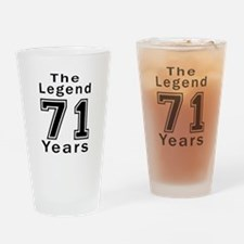 71 Legend Birthday Designs Drinking Glass