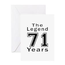 71 Legend Birthday Designs Greeting Card