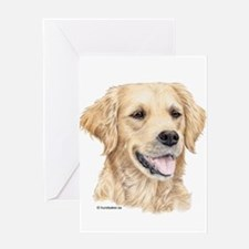 Unique Golden labrador Greeting Card
